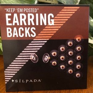 "Silpada ""Keep 'Em Posted"" Earring Backings-8 pair"